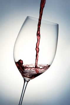 Red of Wine Glass
